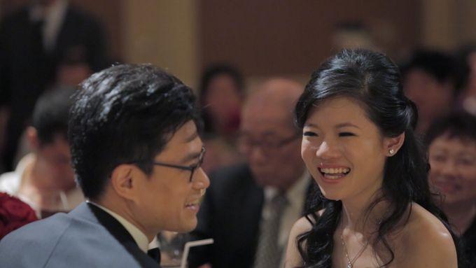 Raymond & Gladys // holy matrimony // wedding dinner // first dance // same day edit express highlight by Teck Kuan // 2014 by Conrad Centennial Singapore - 002