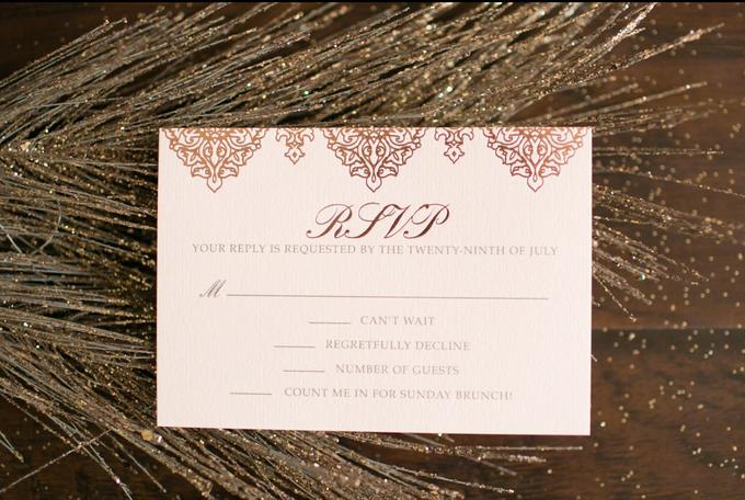 Elegant Pressed Rose Gold Foil Wedding Invitation Suite by Brown – Brown and Gold Wedding Invitations