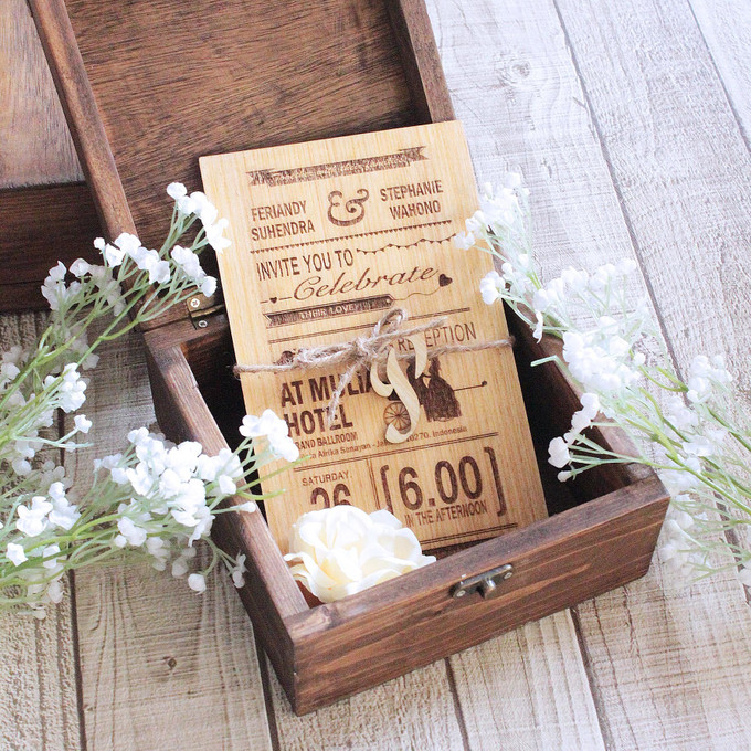 Add To Board Getting Into The Woods With The Wooden Wedding Invitation   001