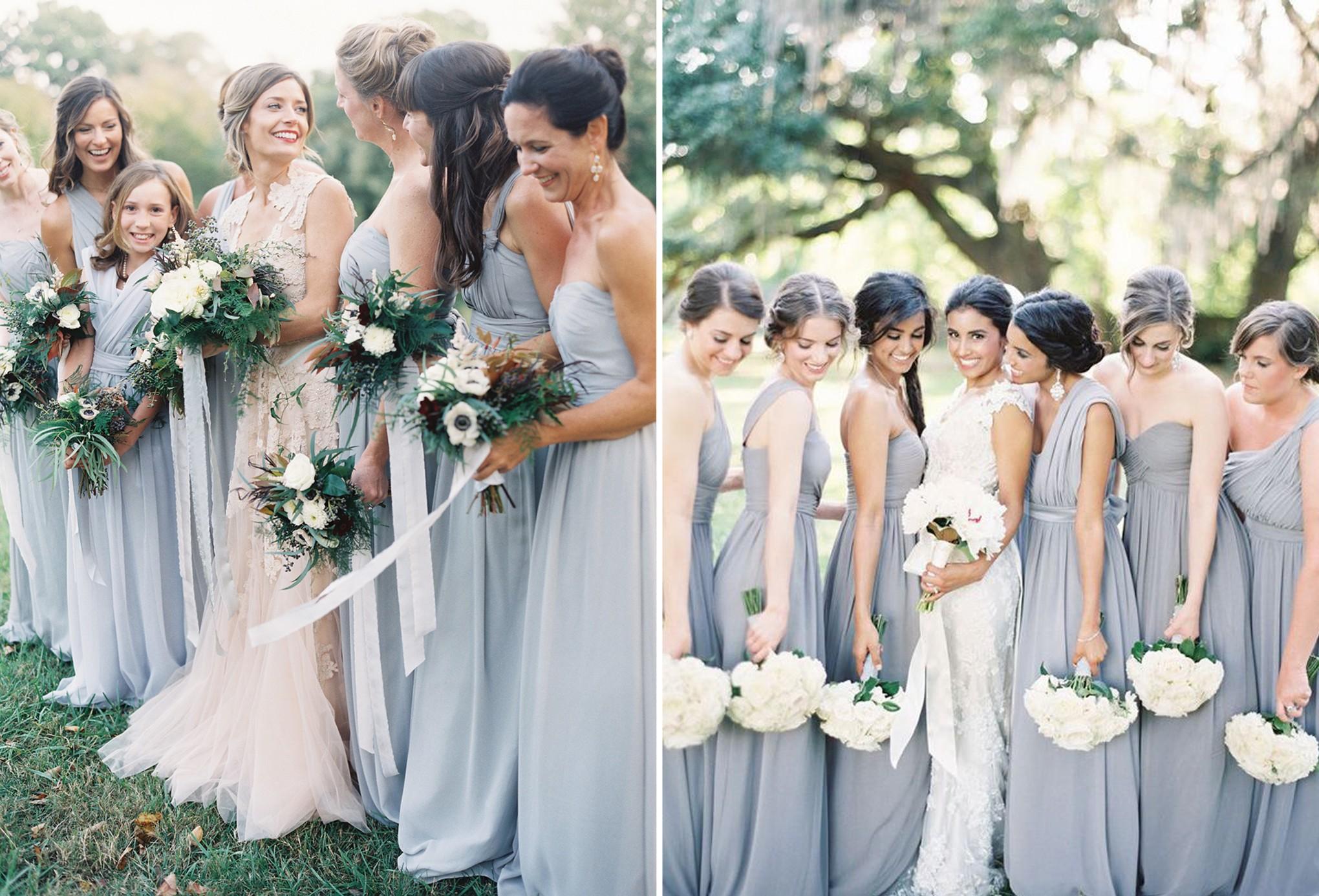 Pop Of Color Dusty Blue Bridestory Blog