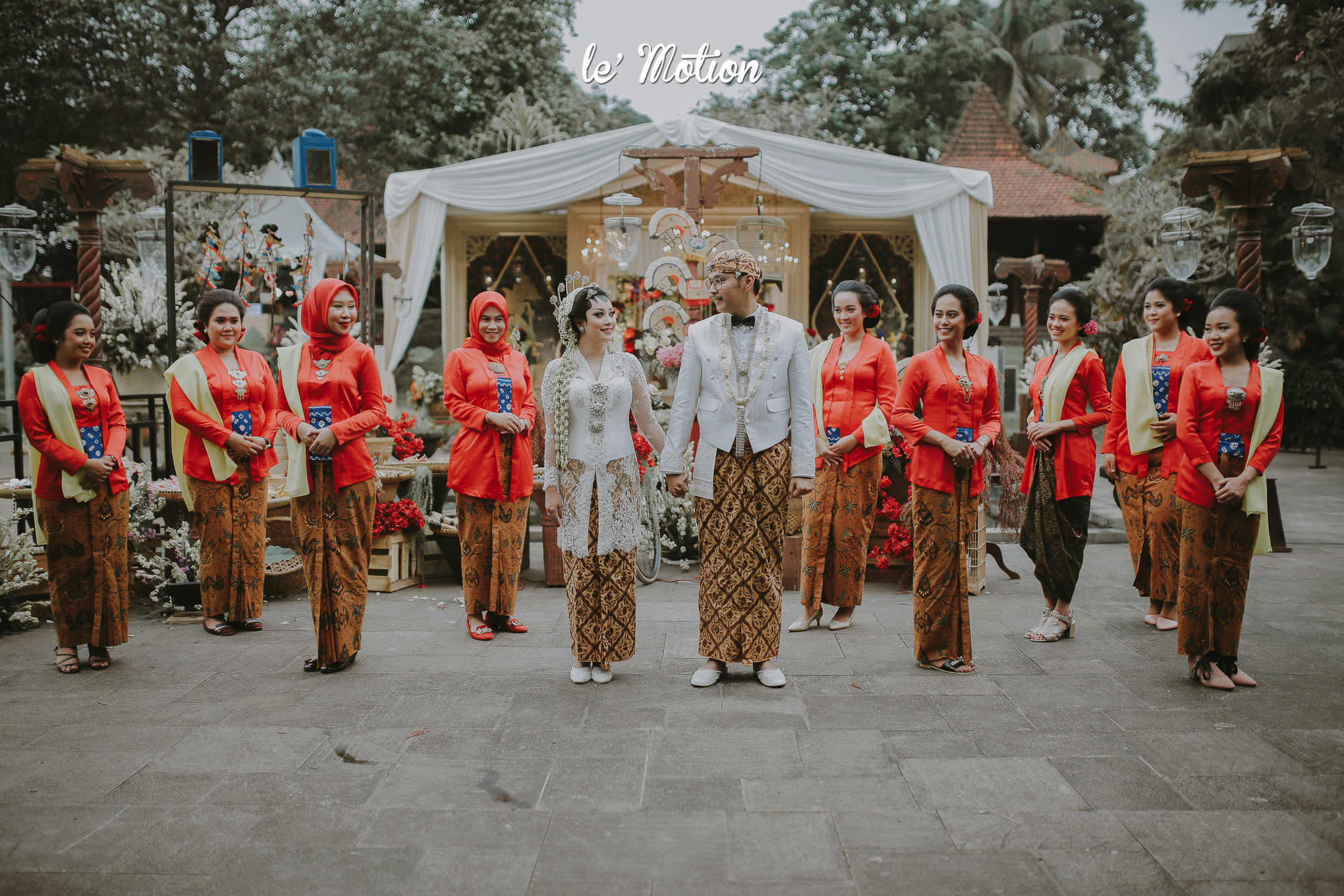 A Wedding Inspired by Traditional Javanese Night Markets