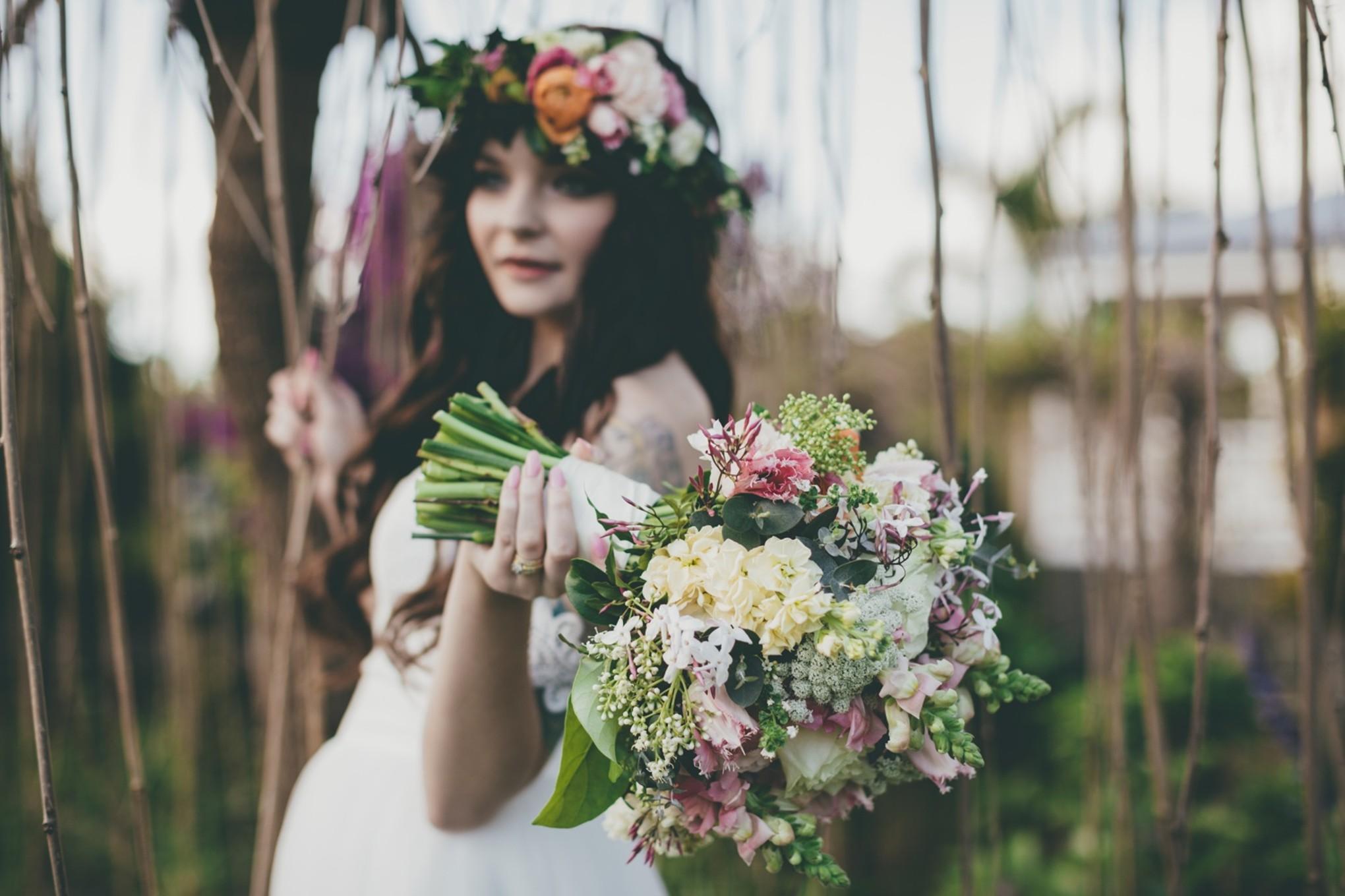 Romantic Garden Elopement at Mango Hill Farm - Bridestory Blog