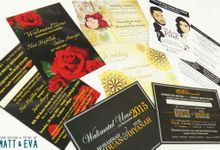 Economy Invitation Cards by Matt & Eva