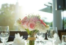 Rustic Garden Themed Venue Decor by Royal Blooms