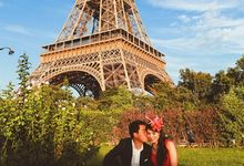 Sunset in Paris around Eiffel Tower by Paris Happy Pictures by Daria Lorman