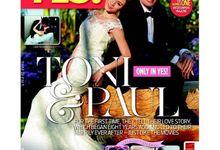 Celebrity Wedding Magazine Cover by Muriel Vega Perez Make Up Artist