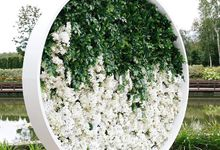 Green and white wedding by Maria German decor