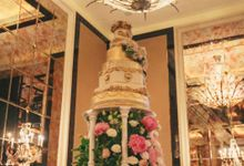 Beautiful Theme Wedding Cake by aBite