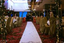 Fairylights Canopy and Customised Aisle Runner by Te Planner