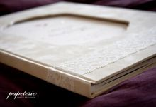 Kevin & Natassya Customized Wedding Guest Book by Papeterie Party Designer