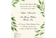 Botanical Wedding Invitations by Spick Studio