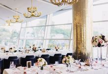 Jessica & Pierre by Forlino Dining on the Bay