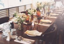 Wedding Dinner at Riders Cafe by Styled Story