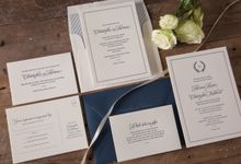 Adriana & Christopher invitation suite by Paper Elephant