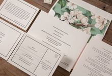 Bronwyn & Richard invitation suite by Paper Elephant