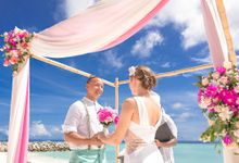 Ron and Aleenas  Beach Wedding in Maldives by Asad's Photography