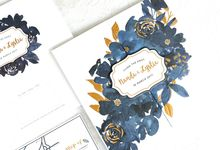 Nanda Lystia Navy Floral by Mille Paperie