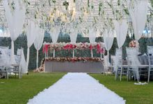 Wedding Dinner Edward & Noviana by The Royal Santrian Luxury Beach Villa