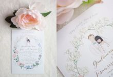 Custom Wedding Invitation Guillaume & Fransisca by Belle Pivoine