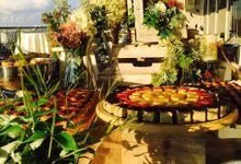 Garden Botanical at Dusk by Manna Pot Catering