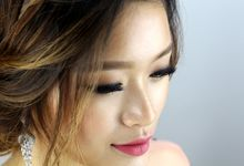 Romantic bohemian Bridal Impression by Sylvia Koh Makeup and Hairstyling