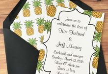 Pineapple wedding invitation suite by Fancy Paperie