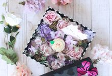 Flowers in a Box by Cup Of Love Design Studio