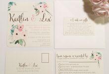 Watercolour Flowers by Little Paper Lane