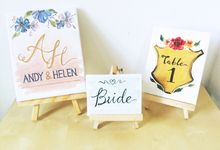 Handpainted Canvas and Wood Signs by Spick Studio