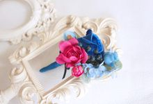 Contrast Combination of Royal Blue and Pink by Cup Of Love Design Studio