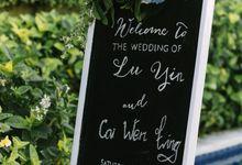 Lu yin & Cai Wen Ling Beautiful Wedding by Red Gardenia