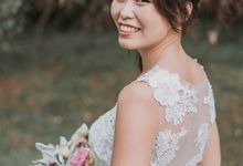 Illusion mermaid gown with bareback details by Kelly's Bridals
