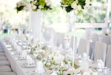 Decoration - Long tables set-up by Spellbound Weddings