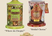Premium Musical Tin Caddies by Basilur Tea