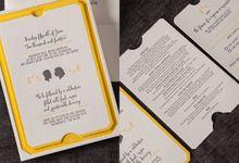 Rosa & Michael invitation suite by Paper Elephant
