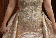 Rose Gold Evening Gown by Sisca Zh