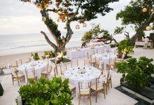 Wedding Ceremony and Dinner Reception by The Seminyak Beach Resort & Spa