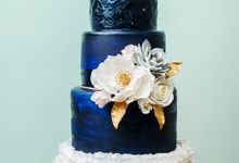 Color Code Wedding Cake by Bakerzin
