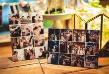 Wedding Reception & Album Table styling by Cinderella Dream