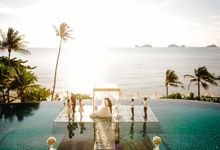 Tiffany and  Allan for a wonderful wedding at the beautiful Conrad Koh Samui by BLISS Events & Weddings Thailand