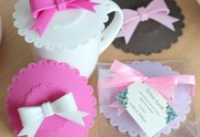 Bow Cupcover Silicon - Linda & William by Red Ribbon Gift