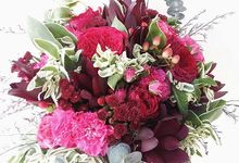 Maroon and Fuschia Theme Wedding by Tiffany's Flower Room