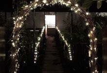 Full Venue Decoration Rustic Garden Arch ROM by Victoria Wedding Collection