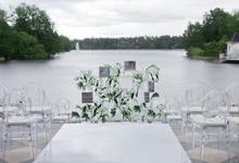 Minimalist wedding in June by Maria German decor
