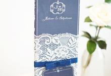 Royal Blue Laces  by Memoir Card