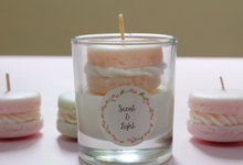 Macaron in glass candle by Scent and Light