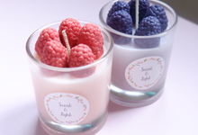Raspberry & Blackberry candle by Scent and Light