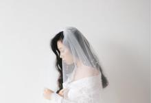 Veil & Pearls : Ileana & Eric Monochromatic by Elsie Chrysila Brides