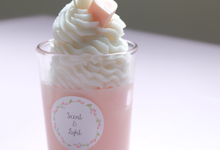 Raspberry Cupcake in Glass by Scent and Light