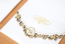 Gold Minimalistic Lace Laser Cut Series by Memoir Card